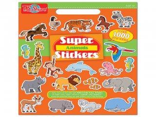 Matricakönyv: Állatok (TS Shure, 6301, Super Stickers: Animals, 1000 db-os, 3-12 év)