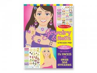 Matricás, ékszer és köröm díszítő készlet (melissa&doug, Jewelry and Nails, kreatív matricás készlet, 4-8 év)
