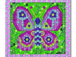 Matricás képkészítő, számok alapján: csillogó pillangó (Melissa&Doug, kreatív képkészítő játék, 5-10 év)