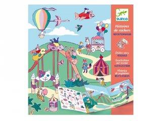 Matricás meseszövés A vidámparkban, Djeco kreatív játék - 8952 (4-8 év)