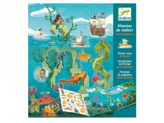 Matricás meseszövés Kalandok a tengeren, Djeco kreatív játék - 8953 (4-8 év)