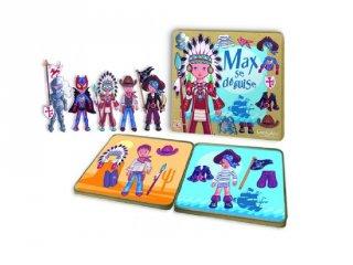 Max a jelmezbálban (Sentosphére, kreatív mágneses- és öltöztetős játék, 3-6 év)