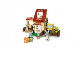 Maximilian családi ház, 98 db-os építőjáték kocsiban (Unico, 1,5-5 év)