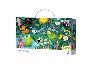 Megfigyelő puzzle A kertben, 80 db-os kirakó (DO, 5-7 év)