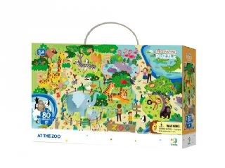 Megfigyelő puzzle Az állatkertben, 80 db-os kirakó (DO, 5-7 év)
