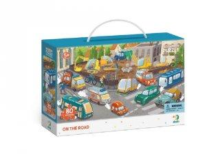 Megfigyelő puzzle Óvatosan az úton, 80 db-os kirakó (300370, DO, 5-7 év)