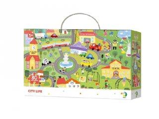 Megfigyelő puzzle Városi élet, 80 db-os kirakó (DO, 5-7 év)