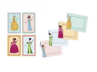 Meghívó készlet, Hercegnők (Djeco, 4775, parti kellék, 4-8 év)
