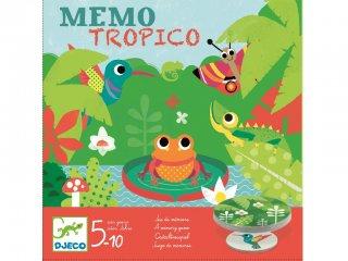 Memo Tropico (Djeco, 8444, állatos memória társasjáték, 5-10 év)