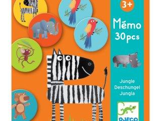 Memóriajáték, A dzsungel állatai (Djeco, 8159, párosítós játék, 3-7 év)