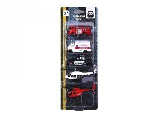 Mentő járművek, 5 db-os autós szerepjáték (3-10 év)