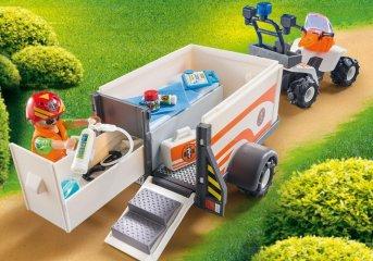 Mentő quad utánfutóval, Playmobil szerepjáték (70053, 4-10 év)