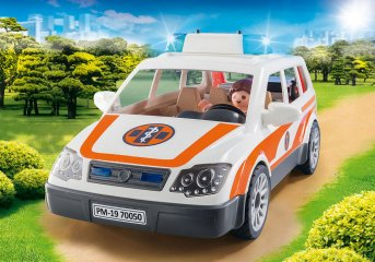 Mentőautó szirénával, Playmobil szerepjáték (70050, 4-10 év)