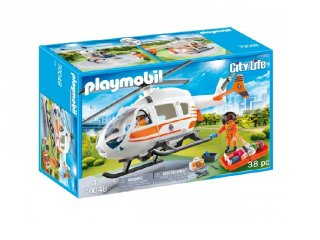 Mentőhelikopter, Playmobil szerepjáték (70048, 4-10 év)