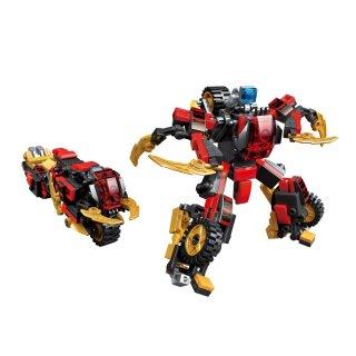 Meteor Mars, 6 az 1-ben Lego kompatibilis építőjáték készlet (QMAN, 3105, 6-12 év)