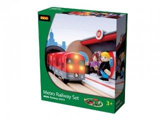 Metró vonatszett (Brio, 33513, vonatos fajáték, 3-10 év)