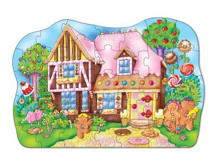 Mézeskalács házikó puzzle (Orchard, gingerbread house, 59x41 cm, 35 db-os puzzle, 3-6 év)
