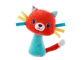 Mini csörgő, Colette cica (Lilliputiens, plüss bébijáték, 0-2 év)