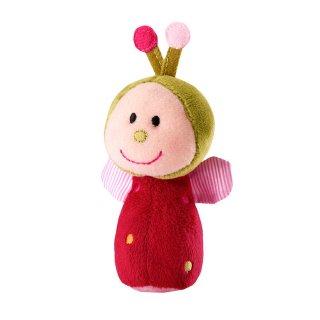 Mini csörgő, Julie katica (Lilliputiens, plüss bébijáték, 0-2 év)