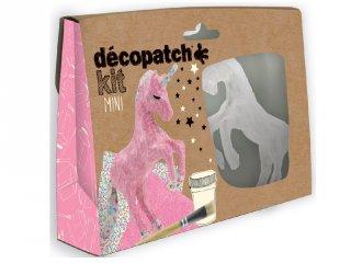 Mini Décopatch készlet, Egyszarvú (Avenue Mandarine, kreatív játék, 6-12 év)