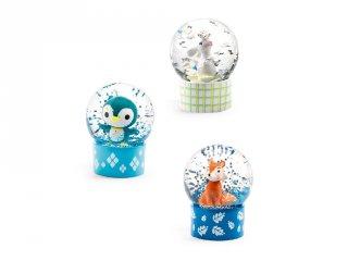 Mini Djeco hógömb: nyuszi, pingvin, róka - 3442 (az ár 1 db-ra vonatkozik)