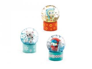 Mini Djeco hógömb: panda, jegesmedve, rally maci - 3441 (az ár 1 db-ra vonatkozik)