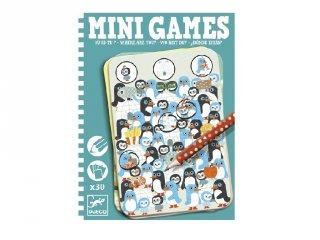 Mini Games, Keresd meg hol van! (Djeco, 5332, azonosságkereső utazó játék, 6-10 év)