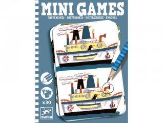 Mini Games, Mi a különbség? (Djeco, 5306, kitalálós utazó játék fiúknak, 6-10 év)