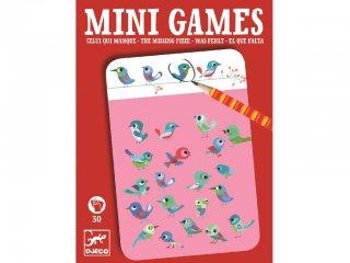 Mini Games, Mi hiányzik a képről (Djeco, 5300, kitalálós úti játék, 4-10 év)