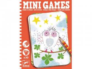 Mini Games, Pontösszekötő képalkotó (Djeco, 5336, foglalkoztató feladatlap, 6-10 év)