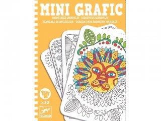 Mini grafika, Mandala színező (Djeco, 5383, kreatív színező, 6-14 év)