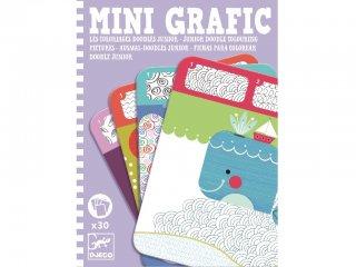 Mini grafika, Színes minták (Djeco, 5387, kreatív színező, 4-10 év)