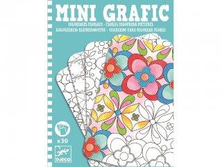 Mini grafika, Virágos színező (Djeco, 5380, kreatív színező, 6-12 év)