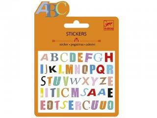Mini habmatricák, Színes betűk (Djeco, 9774, kreatív készlet, 3-12 év)