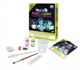 Mini laboratórium, foszforeszkáló és világító készlet, tudományos kísérletező játék (Buki, 8-14 év)