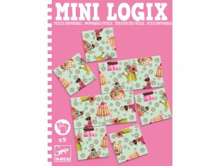 Mini Logix, Hercegnős puzzle (Djeco, 5363, mágneses utazójáték, 4-10 év)