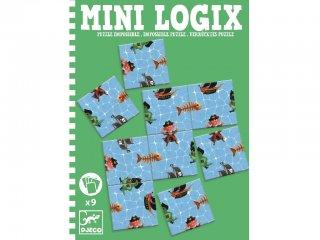 Mini Logix, Kalózos puzzle (Djeco, 5364, 9 db-os mágneses utazójáték, 4-10 év)