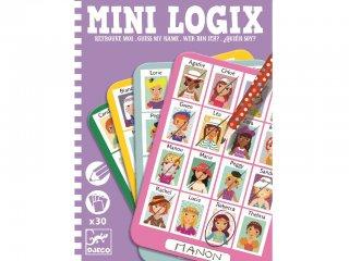 Mini Logix, Ki vagyok én (Djeco, 5357, kitalálós utazójáték lányoknak, 6-10 év)