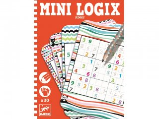 Mini Logix, Sudoku (Djeco, 5350, 30 db-os logikai utazójáték, 6-10 év)