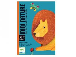 Mini nature (Djeco, 5128, állatos gyűjtögetős kártyajáték, 4-7 év)
