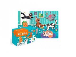 Mini puzzle Cicák, 35 db-os kirakó (DO, 4-6 év)