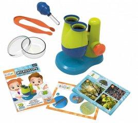 Mini tudomány, mikroszkóp, tudományos felfedező játék (Buki, 4-8 év)