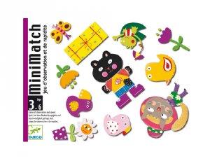 Minimatch (Djeco, 5175, memóriafejlesztő kártyajáték, 3-6 év)