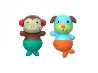 Mix & Match Flippers fürdőjáték majom és kutya, Skip Hop fürdőjáték (9 hó-5 év)