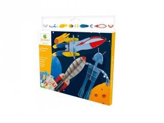 Modellezés Az űrben, kreatív szett (Sycomore, 5-8 év)
