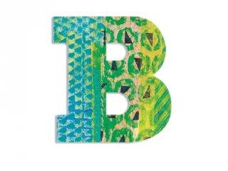 Modern dekor betű fából: B (Djeco, 4811, szobadekoráció, 0-99 év)