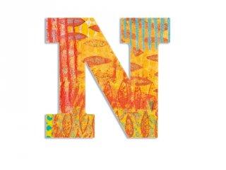Modern dekor betű fából: N (Djeco, 4823, szobadekoráció, 0-99 év)