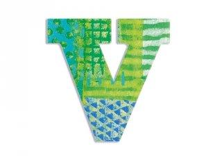 Modern dekor betű fából: V (Djeco, 4831, szobadekoráció, 0-99 év)