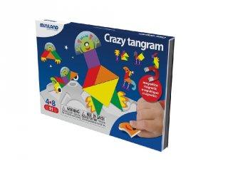 Mókás Tangram (Miniland, 31965, mágneses utazójáték, 4-8 év)