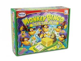 Monkey bingo (Popular, majmos, gyorsasági, logikai társasjáték, 4-9 év)